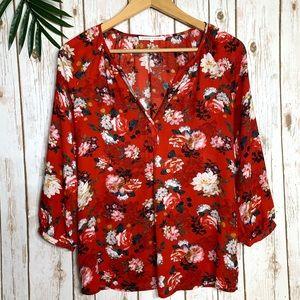 VIOLET + CLAIRE floral blouse
